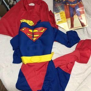 Boys Superman Costume Sz Medium